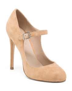 Mary Jane Stiletto Suede Pumps