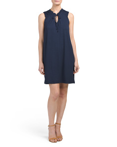 Sleeveless Tie Neckline Dress