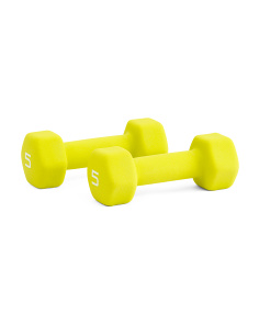 Boxed 5lb Pair Fitness Dumbbells
