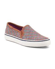 Windowpane Slip On Sneakers