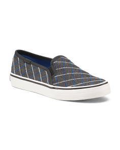 Double Decker Windowpane Sneakers