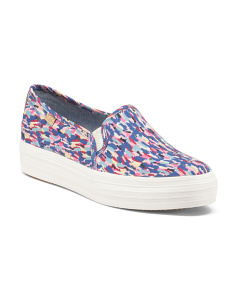 Triple Decker Liberty Slip On Sneakers