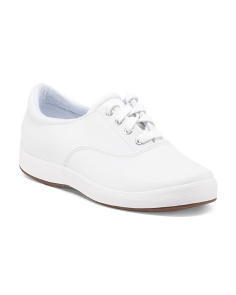 Janey Wide Comfort Leather Sneakers
