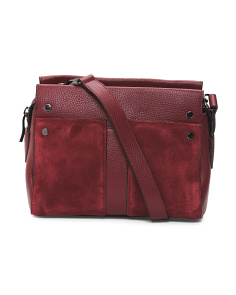 Leather Satchel Crossbody