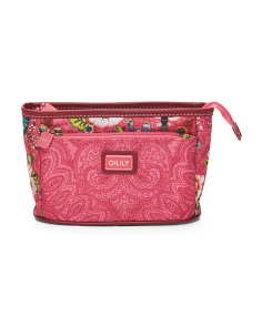 French Flowers Cosmetic Bag