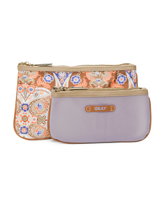 Mosaic Flat Cosmetic Bag Set