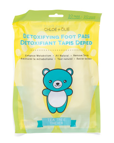 10pk Tea Tree Detox Foot Pads