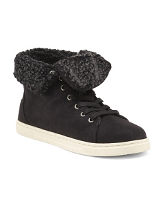 Faux Fur Cuff Sneakers