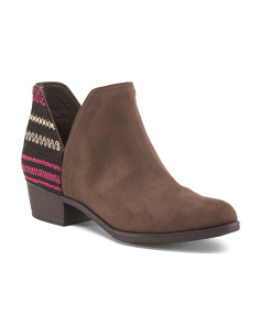 Tapestry Back Low Bootie