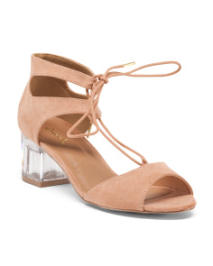 Glare Lucite Heel Sandals