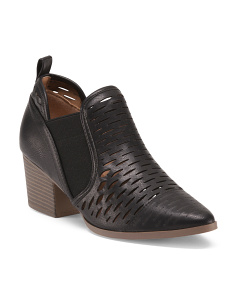 Nero Perforated Low Booties