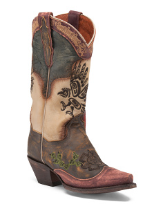 Aztec Western Leather Boots