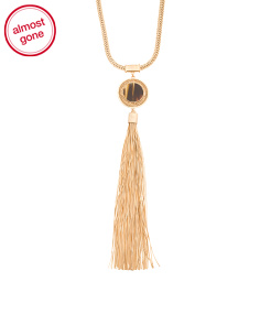Long Fringe Tassel Necklace