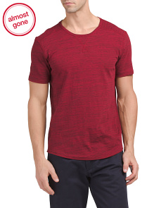 Athletic Short Sleeve Crew Neck Top