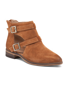 Dandie Buckle Suede Booties