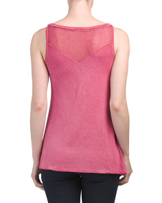 Swingy Top With Mesh Back