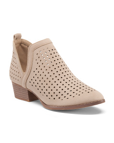 Perforated Low Cut Booties