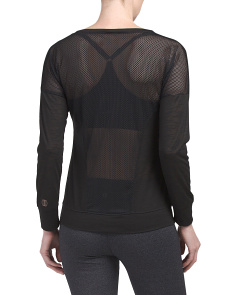Mesh Back Long Sleeve Top
