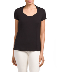Cap Sleeve Jersey Shaped Top