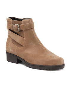 Notebook Ankle Suede Booties