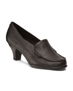 Wise Choice Heeled Leather Loafers