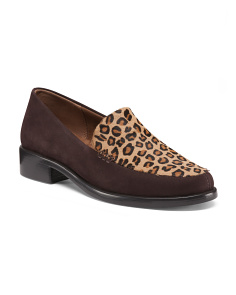 Leopard Suede Haircalf Loafers