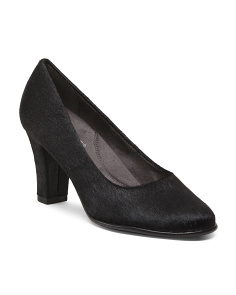 Cow Hair Dress Pumps