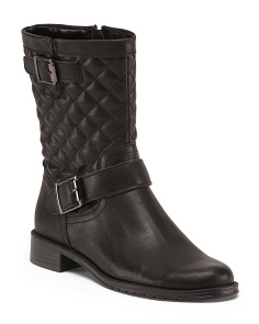 Quilted Mid Shaft Boots