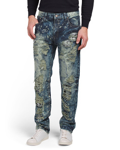 Slim Fit Rip & Repair Jeans
