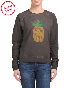 Pineapple Print Sweatshirt