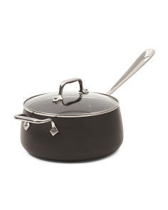 3.5qt Hard Anodized Sauce Pan With Lid