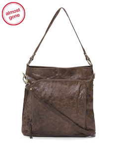 Leather Convertible Hobo