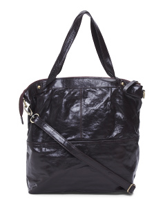 Leather Convertible Tote