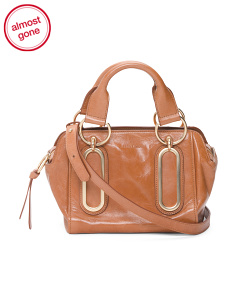Mini Paige Leather Satchel