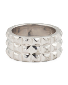 Made In Thailand Sterling Silver Stud Ring