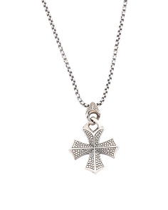 Sterling Silver Templar Cross Necklace