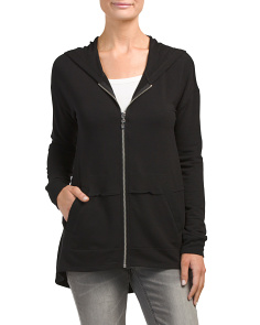Zip Front Hoodie With Pockets