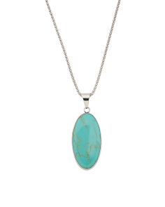 Made In Mexico Sterling Silver Reversible Turquoise Necklace