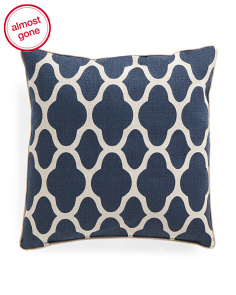 Made In USA 24x24 Oversized Medallion Pattern Pillow