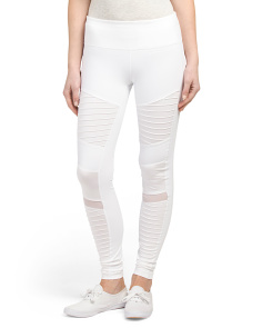 Moto Mesh Detail Leggings