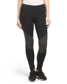 Jacquard Panel Leggings