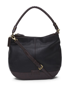 Braided Beauty Leather Hobo