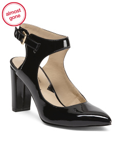 Ankle Wrap Patent Leather Heels