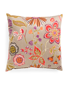 Made In USA 24x24 Lexa Floral Print Pillow
