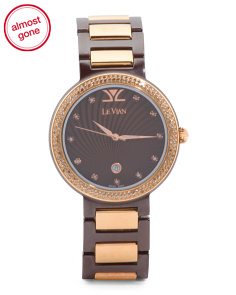 Swiss Made Women's Diamond Ceramic Watch