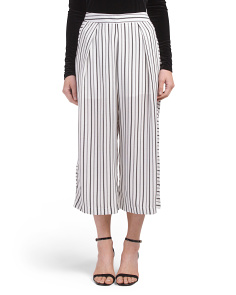 Juniors Mix Stripe Gaucho Pants