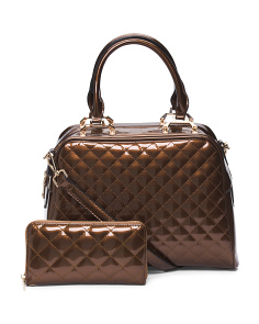 Quilted Convertible Satchel