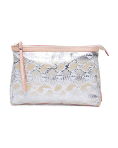 Made In Italy Python Leather Clutch