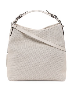 Made In Italy Perforated Leather Hobo