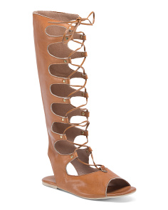 Made In Italy Gladiator Leather Sandals